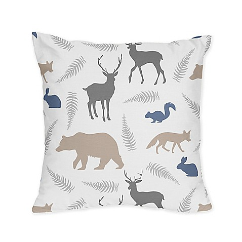 Sweet Jojo Designs Woodland Animals Reversible Throw Pillow - Bed Bath & Beyond