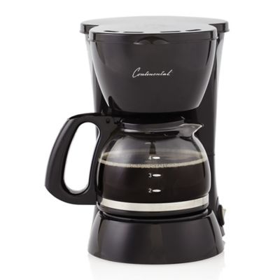 Continental Electric Coffee Maker How To Use : Continental Electric 4-Cup Coffee Maker in Black - Bed Bath & Beyond