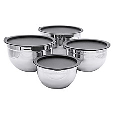 image of Artisanal Kitchen Supply™ 4-piece Stainless Steel Mixing Bowl set
