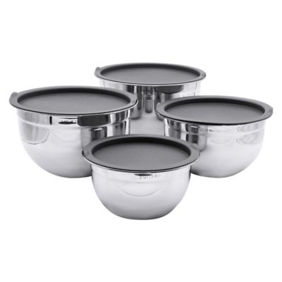 image of Artisanal Kitchen Supply® 4-piece Stainless Steel Mixing Bowl set