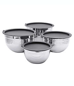 Set de tazones para mezclar Artisanal Kitchen Supply® de acero inoxidable, 4 piezas