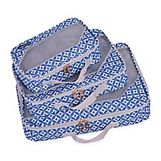 image of Jenni Chan Aria Stars 3-Piece Packing Cube Set in Blue
