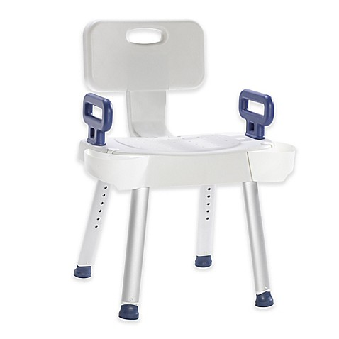 Image Of Drive Medical Premium Series Spa Safety Bath Chair In White
