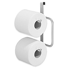 image of InterDesign® Over-the-Tank Double Toilet Paper Roll Holder in Silver