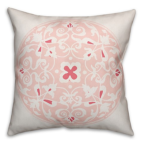 Circle Design Throw Pillows : Buy Designs Direct Moroccan Circle Square Throw Pillow in Coral from Bed Bath & Beyond