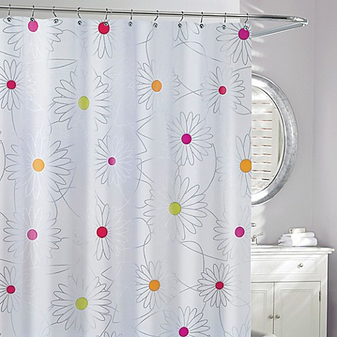 Moda bliss peva shower curtain bed bath beyond Nature inspired shower curtains