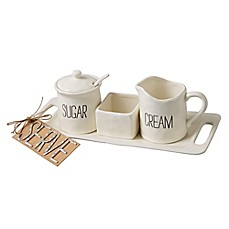 image of Mud Pie® Bistro Cream and Sugar Set