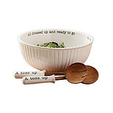 image of Mud Pie® 3-Piece All Dressed Up Salad Bowl and Server Set
