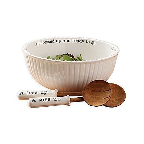 Mud Pie® 3 Piece All Dressed Up Salad Bowl And Server Set