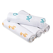 image of aden® by aden + anais® Safari Muslin 4-Pack swaddleplus® Blankets