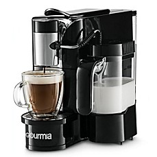 image of gourmia 1touch automatic espresso and cappuccino machine in black