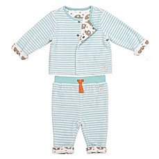 image of Boppy® 2-Piece Reversible Cardigan and Pant Set