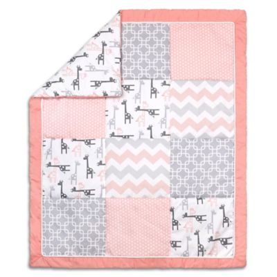 Quilt Pattern Uptown Girl : Quilts > The Peanut Shell? Uptown Girl Quilt in Coral from Buy Buy Baby