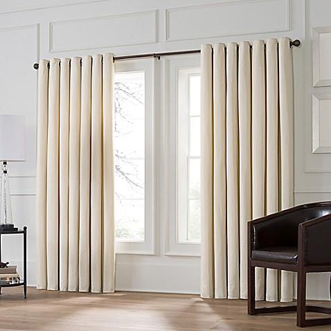 Valeron Stradivari Room Darkening Double Width Window Curtain Panel Bed Bath Beyond