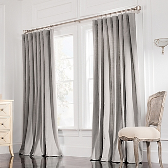 Valeron Estate Rod Pocket Insulated Double Width Window Curtain Panel