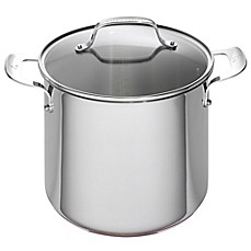 image of Emeril™ 8 qt. Stainless Steel and Copper Core Covered Stock Pot