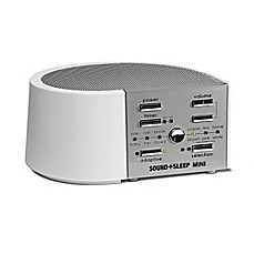 image of Sound+Sleep Mini Sound Machine in White/Silver