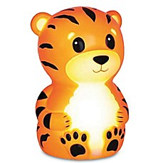 image of Terry the Tiger Portable Night Light in Orange Stripe