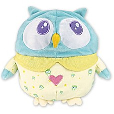 image of OK to Wake Owl with Night Light and Music in Blue/Yellow