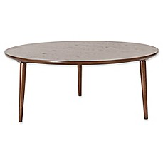 Charming Madison Park Mid Mod Round Coffee Table In Pecan
