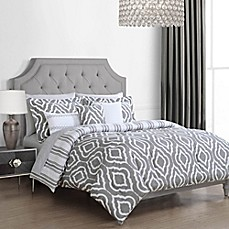 image of lavernia geo 10piece comforter set in grey