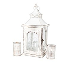 image of Cathy's Concepts Rustic Heart Unity Lantern with Candle Holders
