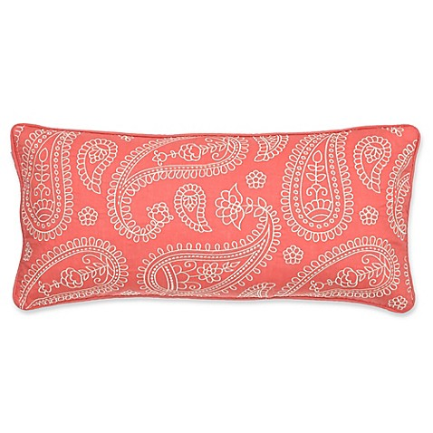 Levtex Home Araya Paisley Oblong Throw Pillow in Coral - Bed Bath & Beyond