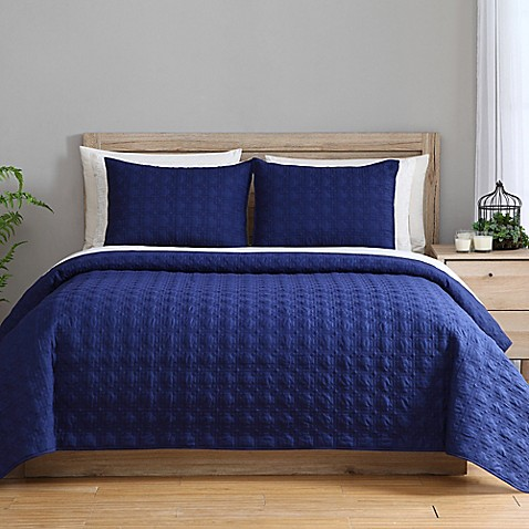 Clairebella reversible coverlet set bed bath beyond for Clairebella