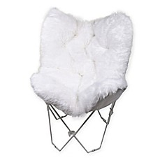 image of Faux Fur Butterfly Chair