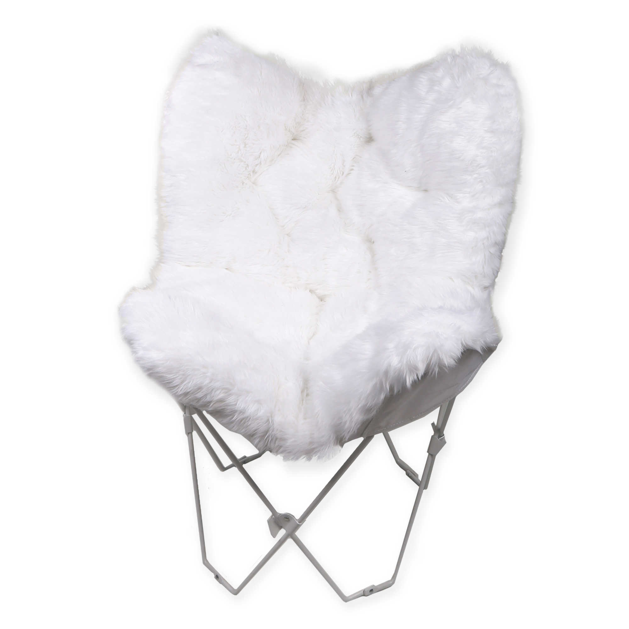 Dorm seating papasan dorm sofa pink college futon - Image Of Faux Fur Butterfly Chair
