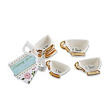 image of Kate Aspen® 12-Pack Tea Time Whimsy Teacup Measuring Spoons