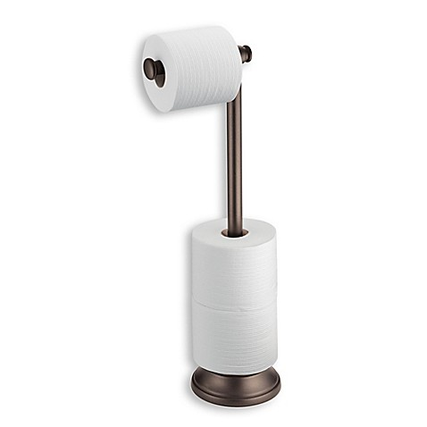 Interdesign Kent Standing 3 Roll Toilet Paper Holder With