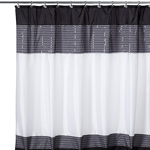 Curtains Ideas black cloth shower curtain : Xanadu Fabric Shower Curtain - Bed Bath & Beyond