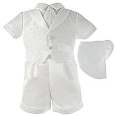 image of Lauren Madison Christening Short and Hat Set