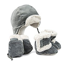 image of JJ Cole® 5-Piece Bomber Hat, Mitten, and Boot Set in Graphite