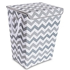 image of Taylor Madison Designs® Chase Chevron Hamper in Grey/White