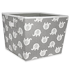 image of Taylor Madison Designs® Elle Storage Bin in Grey/White