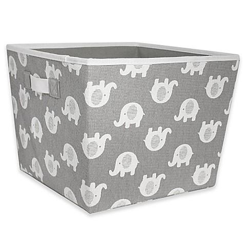 Image Of Taylor Madison Designs® Elle Storage Bin In Grey/White