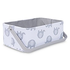 image of Taylor Madison Designs® Elle Diaper Caddy in White/Grey