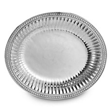 image of Wilton Armetale® Flutes and Pearls 14-3/4-Inch Oval Tray