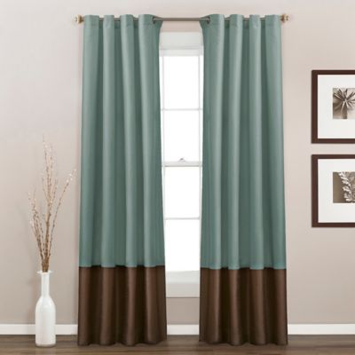 Buy Blue Chocolate Curtain Panels from Bed Bath & Beyond