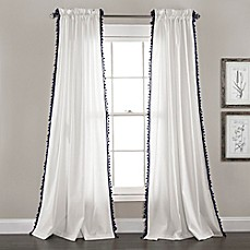 Lush Décor Urban Tassel Rod Pocket Window Curtain Panel Pair