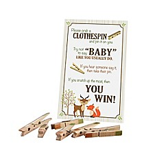 image of Lillian Rose™ Woodland Clothespin Baby Shower Game