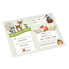 image of Lillian Rose™ Woodland Baby Shower Prediction Cards (Set of 24)