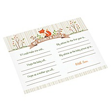image of Lillian Rose™ Woodland Baby Shower Wishes Card (Set of 24)