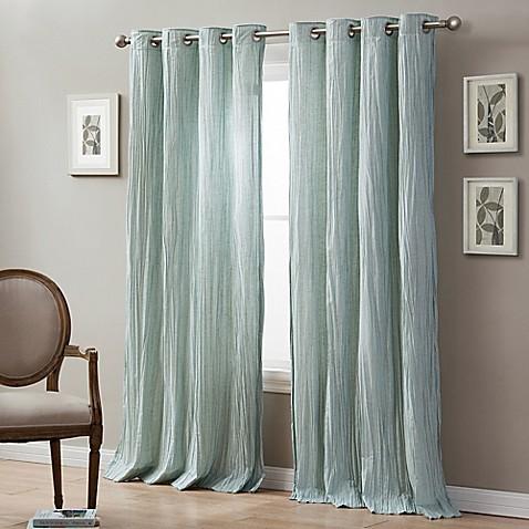 Buy Linen Crinkle 108 Inch Grommet Top Window Curtain