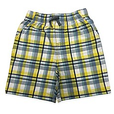 image of Celebrity Kids Plaid Short in Blue/Yellow