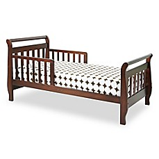 image of DaVinci Sleigh Toddler Bed in Cherry