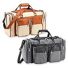 image of Piel® Leather Duffle Bag with Pockets