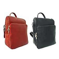 image of Piel® Leather Slim Front Pocket Backpack